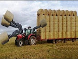 Supper Intelligent Modern Agriculture Equipment and Mega Machines: Hay Bale Handling Tractor, Loader